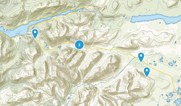 Glencoe, Scotland Hiking Map