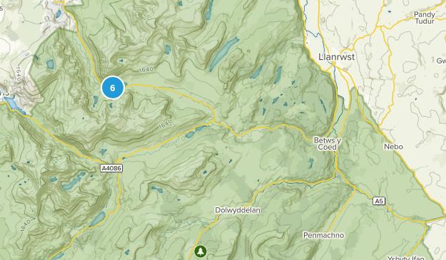Betws-Y-Coed, Wales Walking Map