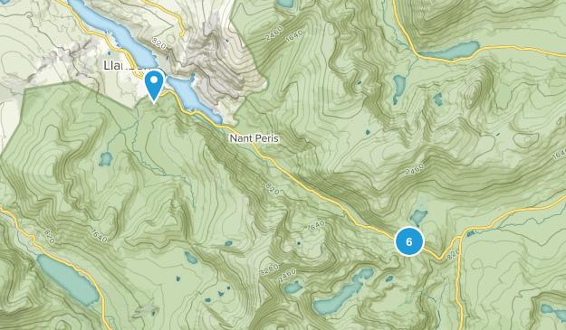 Llanberis Community, Wales Hiking Map