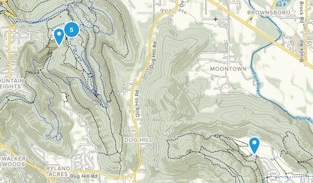 Brownsboro, Alabama Hiking Map