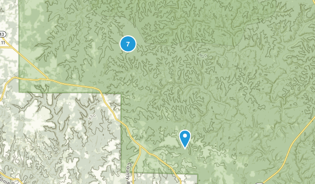 Double Springs, Alabama Nature Trips Map