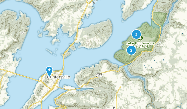 Guntersville, Alabama Views Map