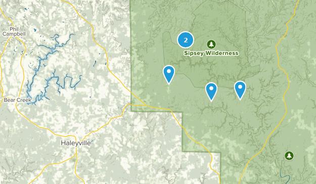 Haleyville, Alabama Camping Map