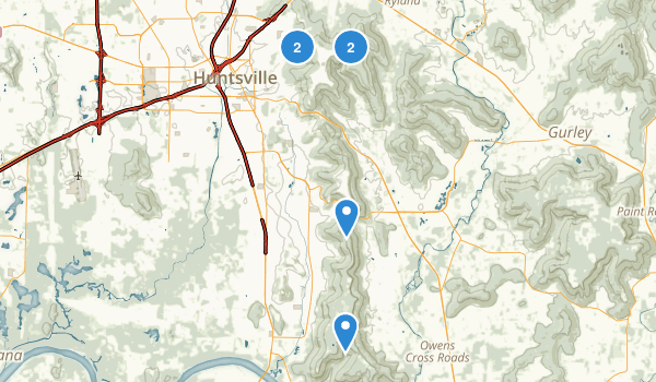 Huntsville, Alabama Dogs On Leash Map