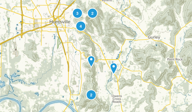 Huntsville, Alabama Dogs On Leash Map