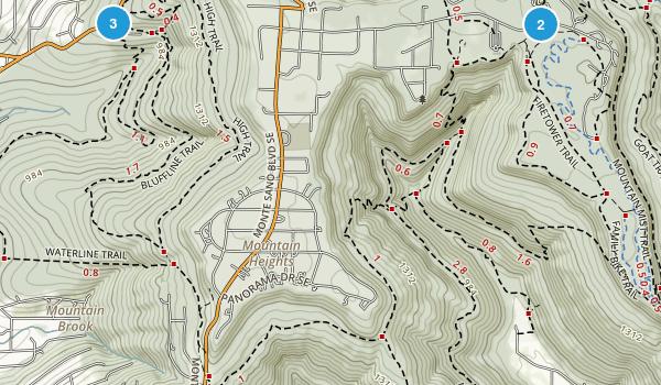Huntsville, Alabama Mountain Biking Map