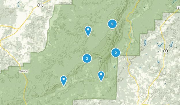 Lineville, Alabama Hiking Map