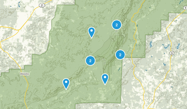 Lineville, Alabama Nature Trips Map