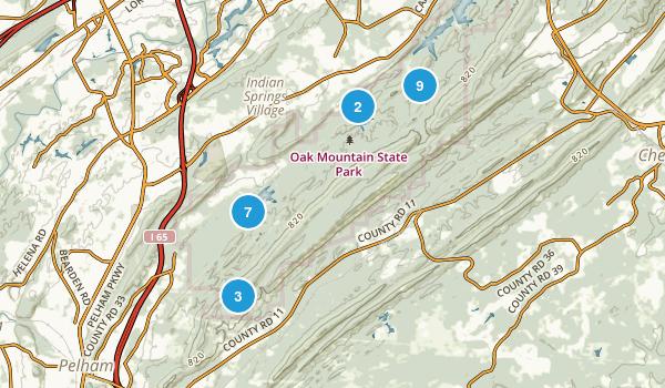 Pelham, Alabama Hiking Map