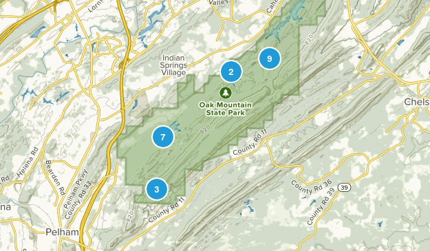 Pelham, Alabama Hiking Map
