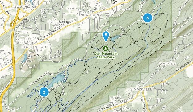 Pelham, Alabama Lake Map