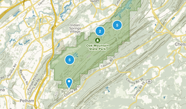Pelham, Alabama Nature Trips Map