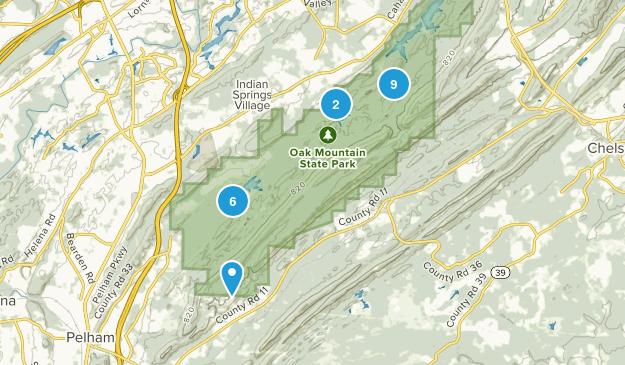 Pelham, Alabama Nature Trips Map