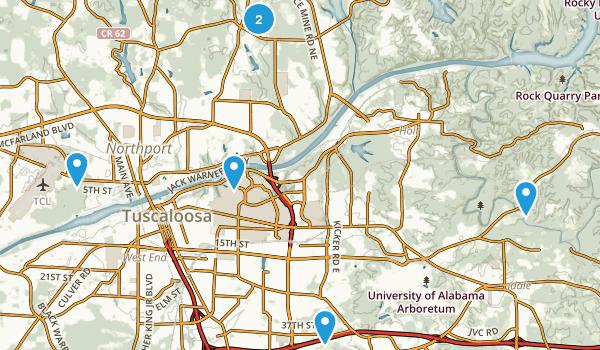 Tuscaloosa, Alabama Walking Map
