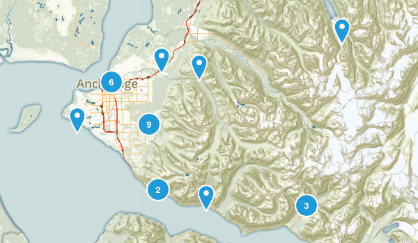 Anchorage, Alaska Dogs On Leash Map