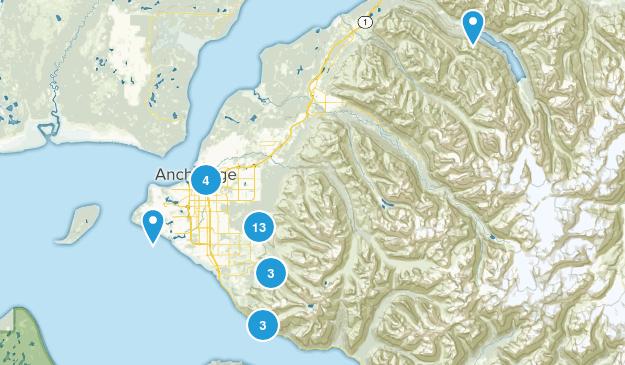Anchorage, Alaska Forest Map
