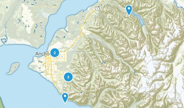 Anchorage, Alaska Lake Map