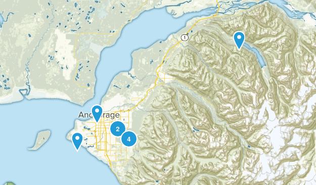 Anchorage, Alaska Mountain Biking Map