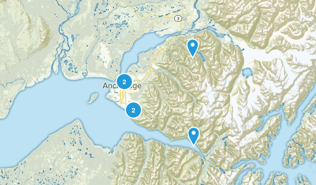 Anchorage, Alaska River Map