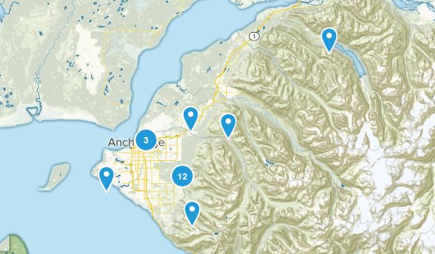 Anchorage, Alaska Trail Running Map