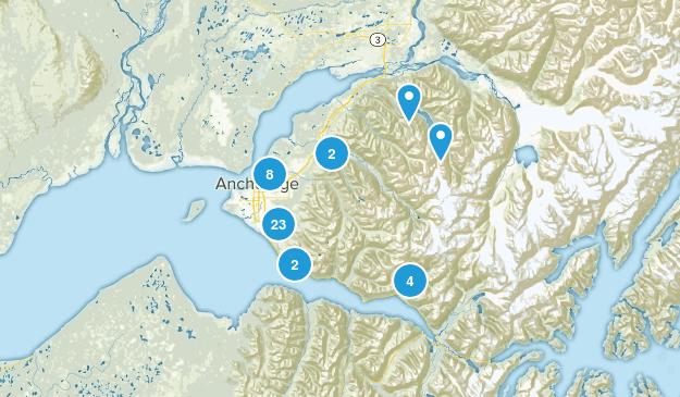 Anchorage, Alaska Walking Map