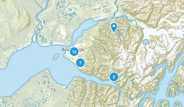 Anchorage, Alaska Wildlife Map