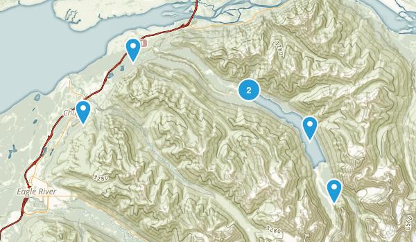 Chugiak, Alaska Dogs On Leash Map