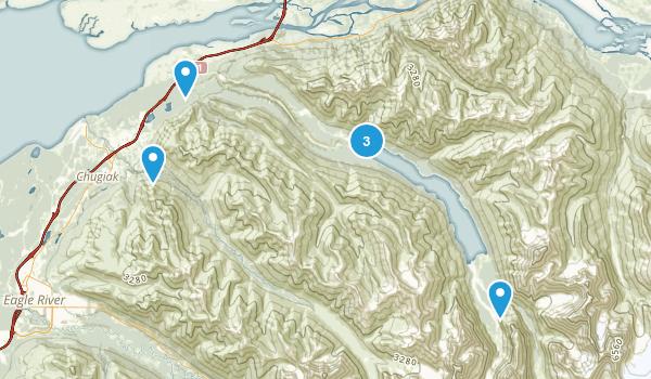 Chugiak, Alaska Trail Running Map