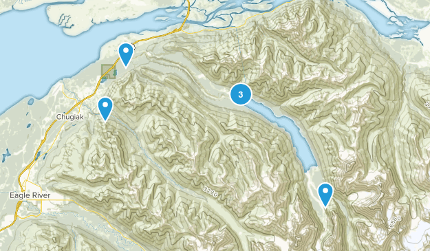 Chugiak, Alaska Trail Running Map