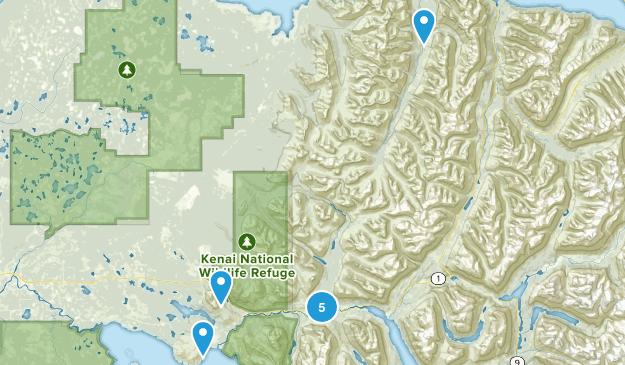 Cooper Landing, Alaska Dogs On Leash Map