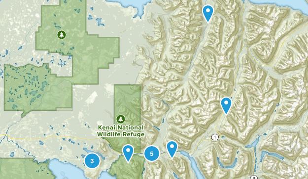 Cooper Landing, Alaska Forest Map