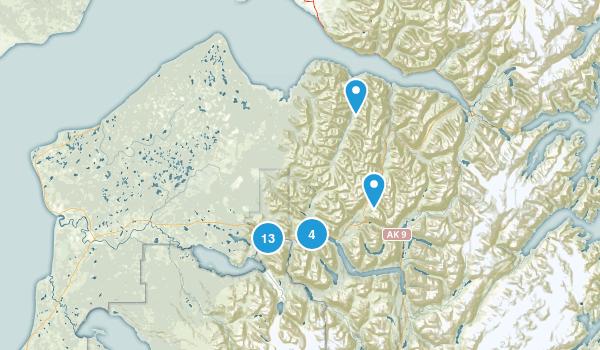Cooper Landing, Alaska Hiking Map