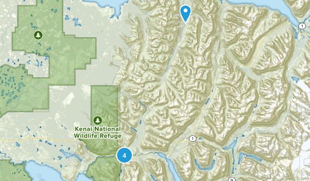 Cooper Landing, Alaska Waterfall Map