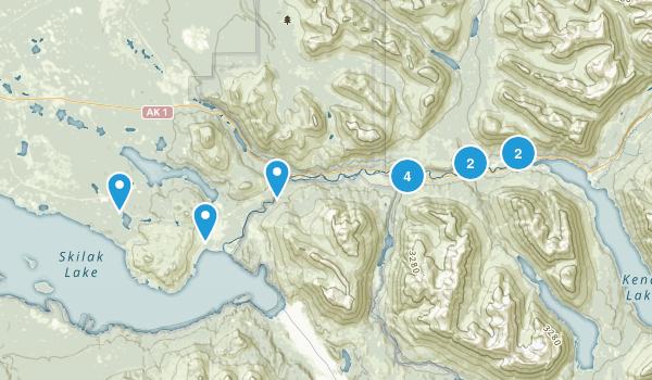 Cooper Landing, Alaska Wild Flowers Map