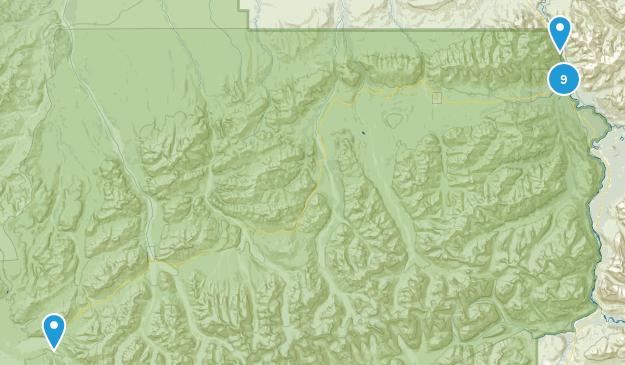 Denali National Park, Alaska Hiking Map