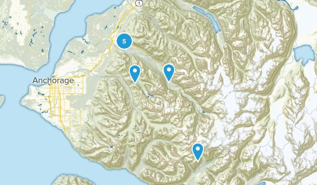 Eagle River, Alaska Birding Map