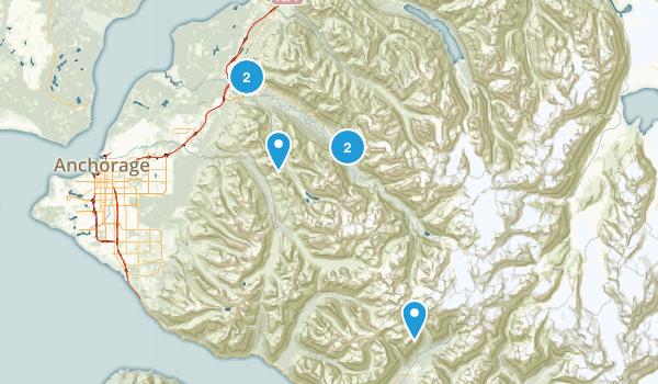 Eagle River, Alaska Forest Map