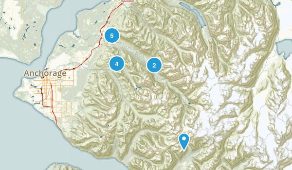 Eagle River, Alaska Hiking Map