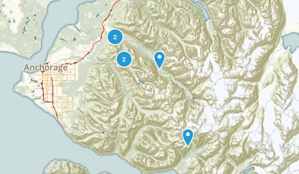 Eagle River, Alaska River Map
