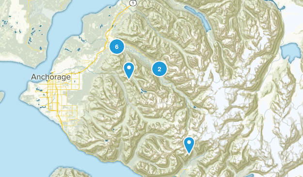 Eagle River, Alaska Walking Map