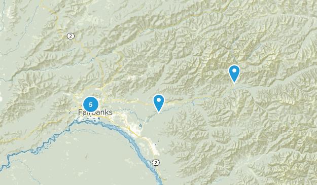 Fairbanks, Alaska Nature Trips Map