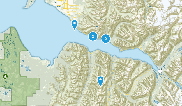 Indian, Alaska Hiking Map