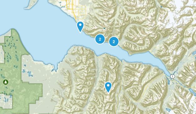 Indian, Alaska Hiking Map