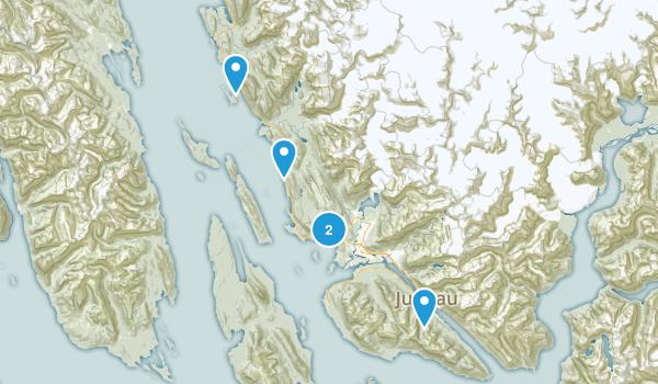 Juneau, Alaska Cross Country Skiing Map