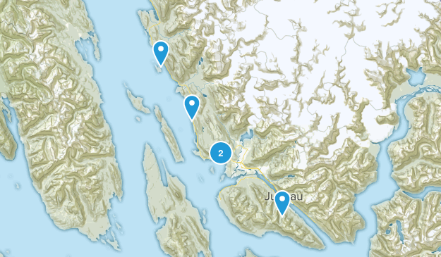 Juneau, Alaska Cross Country Skiing Map