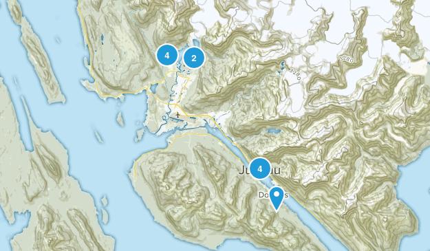 Juneau, Alaska Dog Friendly Map