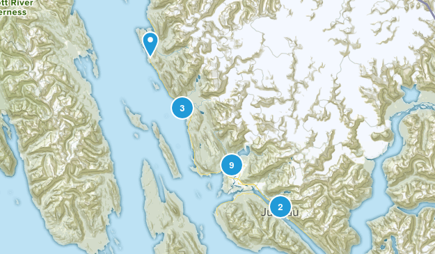 Juneau, Alaska Dogs On Leash Map