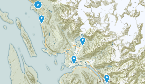Juneau, Alaska Mountain Biking Map