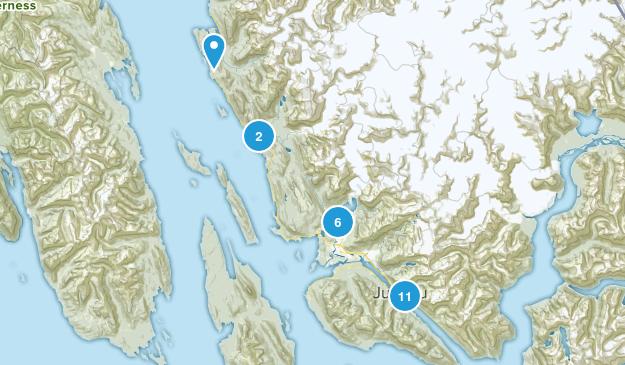 Juneau, Alaska Nature Trips Map