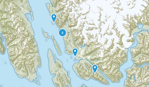 Juneau, Alaska Snowshoeing Map